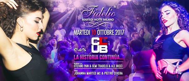 Martedì 10/10 Fidelio al The Club a Milano