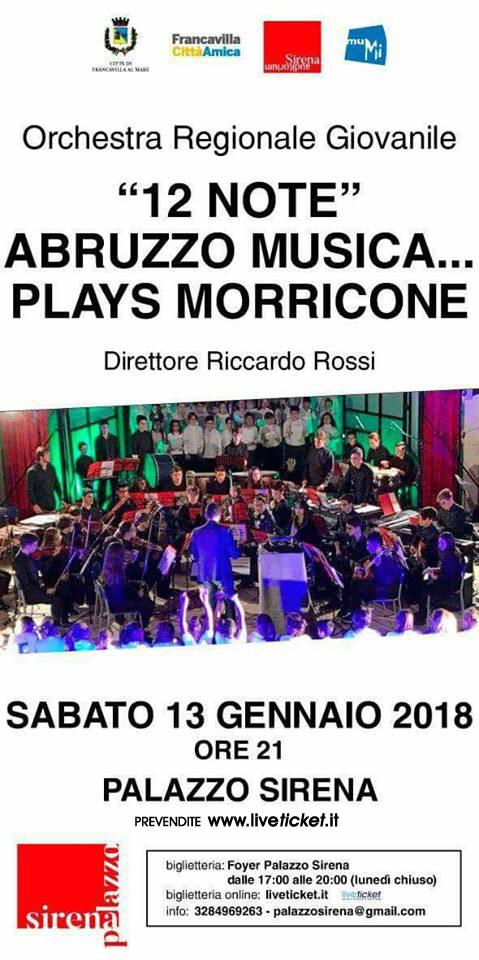 """""""12 note"""" Abruzzo musica...plays Morricone al Palazzo Sirena a Francavilla al Mare"""