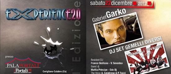 Experience 20 Gabriel Garko, Gemelli Diversi al Palatenda I Portali