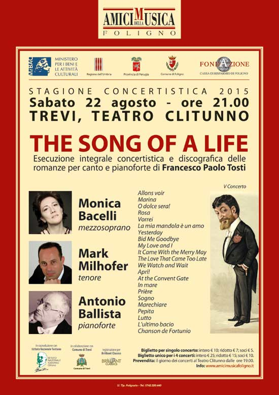 """The song of a life"" al Teatro Clitunno di Trevi"