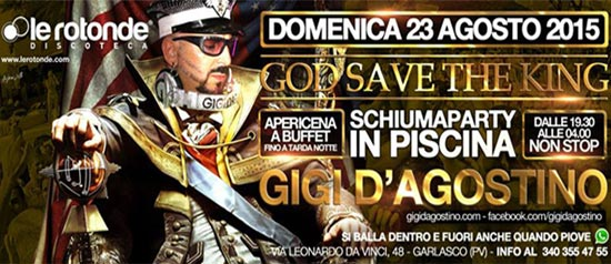 Gigi D'Agostino allo Schiuma Party a Le rotonde Disco Club di Garlasco