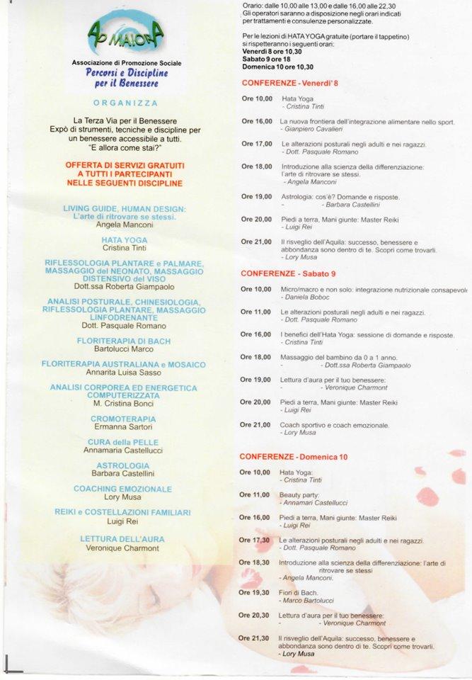 Programma Natura e Benessere a Mondolfo (PU)