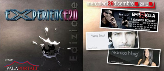 Experience 20 Emis Killa, Federica Nargi, Marco Bocci al Palatenda I Portali