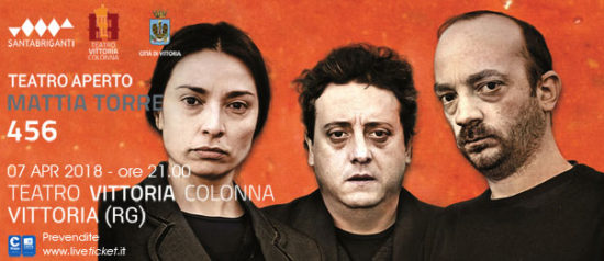 "Mattia Torre ""456"" al Teatro Vittoria Colonna a Vittoria"