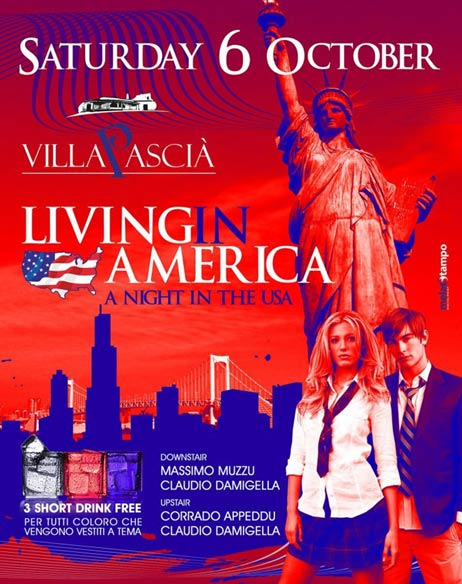 Living in America al Villa Pascià