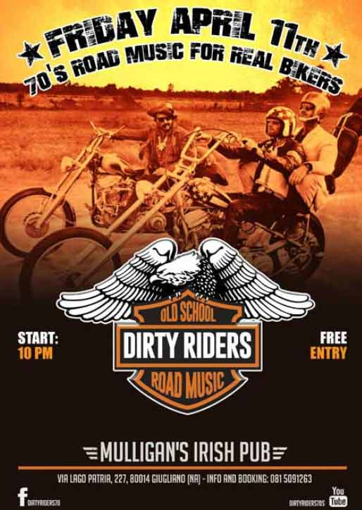 Dirty Riders al Mulligan's Irish Pub di Giugliano in Campania Napoli