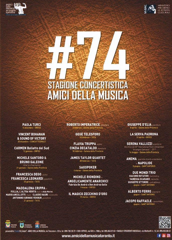 74ª Stagione Concertistica