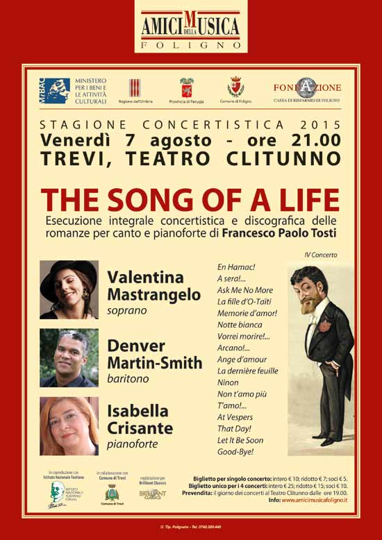 The song of a life al Teatro Clitunno di Trevi