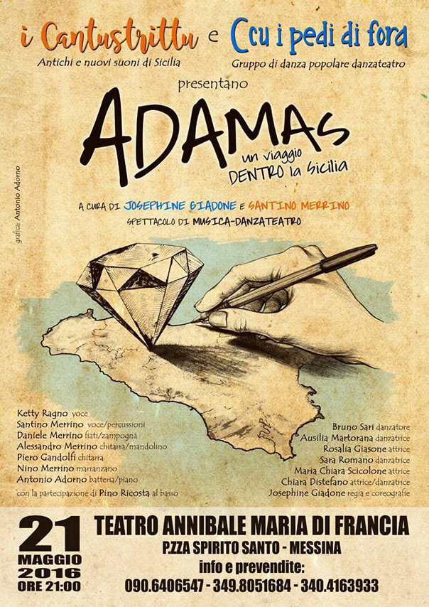 """Adams, un viaggio dentro la Sicilia"" al Teatro Annibale di Francia"