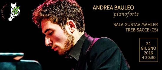 Andrea Bauleo in concerto all'Accademia Gustav Mahler di Trebisacce (CS)