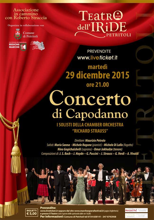 Concerto di Capodanno al Teatro dell'Iride di Petritoli