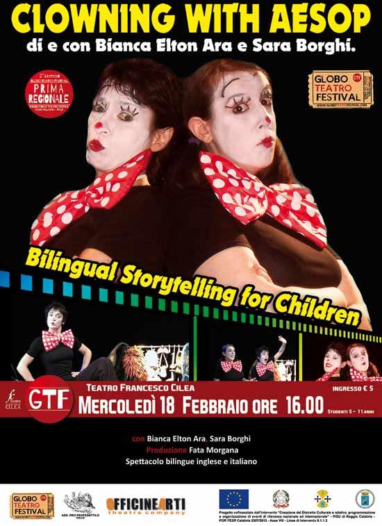 """Clowning with Aesop"" al Globo Teatro Festival a Reggio Calabria"