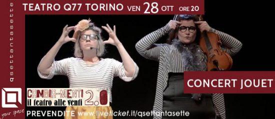 Concert Jouet al Q77 di Torino
