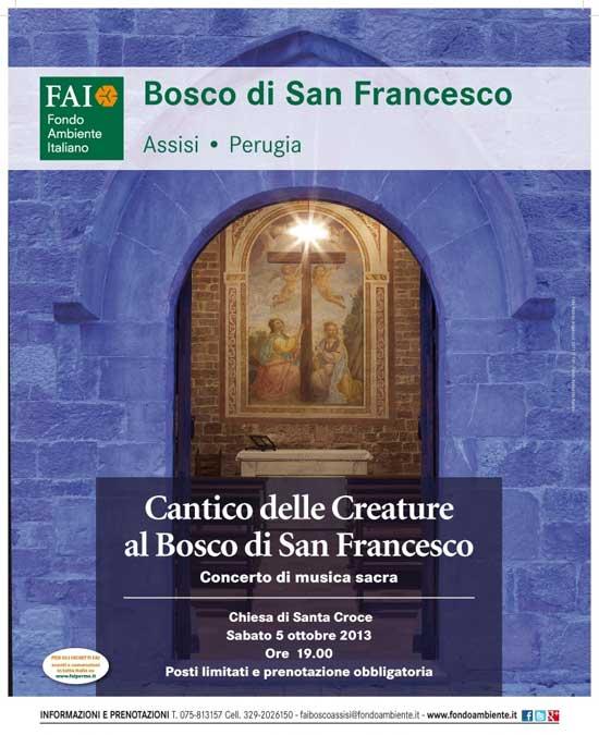"""Concerto """"Cantico delle Creature"""" nel Bosco di San Francesco ad Assisi"""