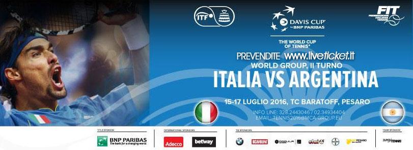 Davis Cup 2016 quarti di finale Italia-Argentina