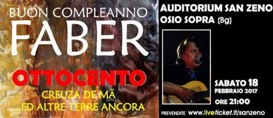 Buon compleanno Faber all'Auditorium San Zeno di Osio Sopra
