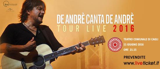 """Cristiano De Andrè """"De Andrè canta De Andrè"""" al Teatro Comunale di Cagli"""