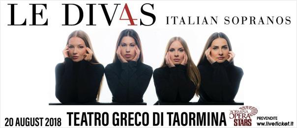 """Le Div4s - Italian sopranos"" Taormina Opera Stars al Teatro Antico di Taormina"
