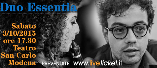 Duo Essentia al Teatro San Carlo di Modena