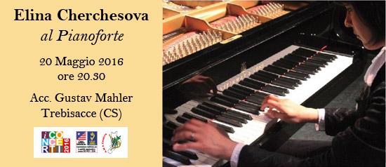 Recital della pianista Elina Cherchesova all'Accademia Gustav Mahler di Trebisacce