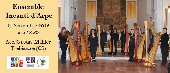 L'Ensamble Incanti d'Arpe all'Accademia Gustav Mahler di Trebisacce (CS)