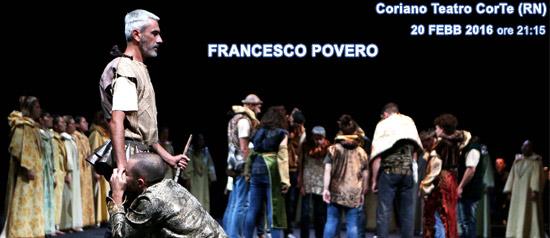 Francesco povero al Teatro CorTe di Coriano