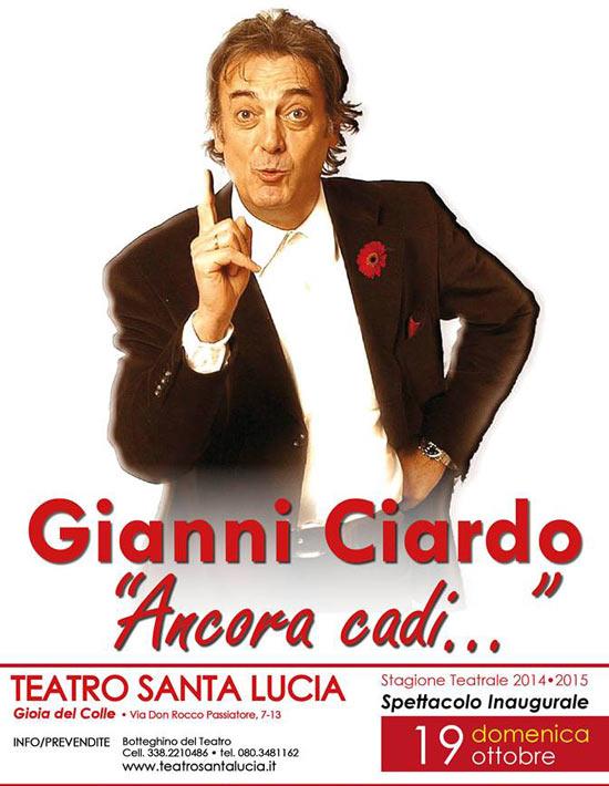 """Gianni Ciardo in """"Ancora cadi"""""""
