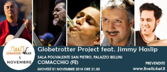 Comacchio Jazz - Globetrotter Project feat. Jimmy Haslip al Palazzo Bellini a Comacchio (FE)