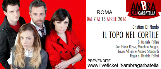 """Elena Russo """"Il Topo Nel Cortile"""" al Teatro Ambra alla Garbatella di Roma"""