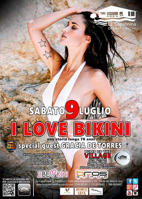 I Love Bikini alla Capannina di Forte dei Marmi