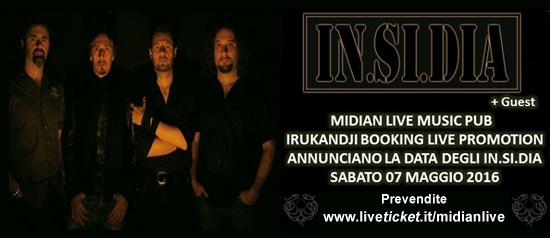 IN.SI.DIA + guest al Midian Live Pub di Cremona