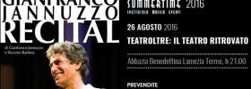 """Gianfranco Jannuzzo """"Recital"""" all'Abbazia Benedettina di Lamezia Terme"""
