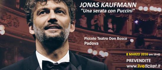 """Jonas Kaufmann """"Una serata con Puccini"""" al Piccolo Teatro Don Bosco di Padova"""