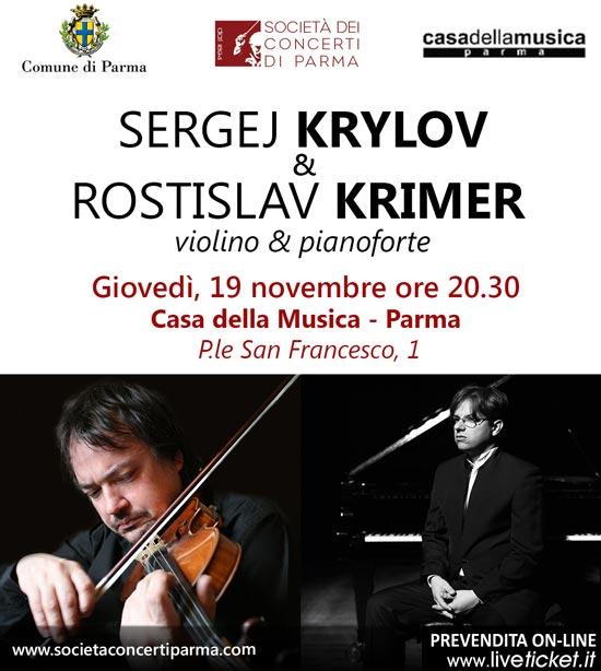 Sergej Krylov & Rostislav Krimer in concerto alla Casa della Musica di Parma