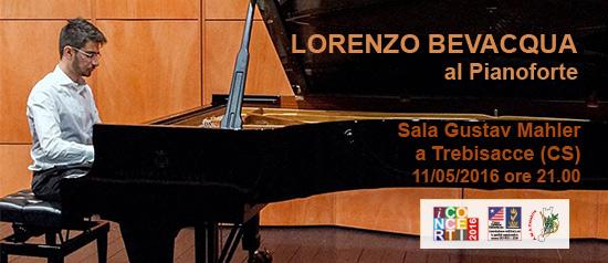 Recital del pianista Lorenzo Bevacqua all'Accademia Gustav Mahler di Trebisacce (CS)