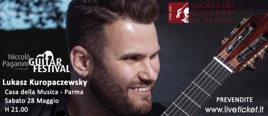 Lukasz Kuropaczewsky in concerto alla Casa della Musica di Parma