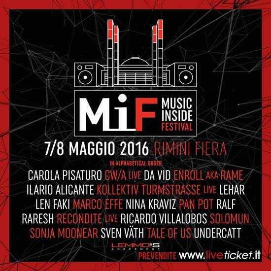 MiF Music Inside Festival a Rimini Fiera