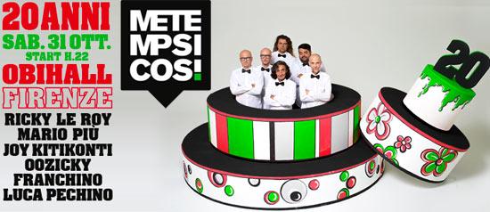 Metempsicosi 20 Years Celebration al Teatro OBIHaLL di Firenze