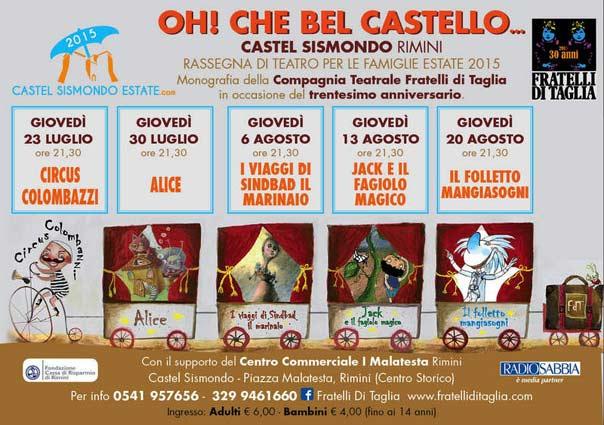 """Oh che bel castello 2016 """"Il Genio nell'anfora"""" al Castel Sismondo di Rimini"""