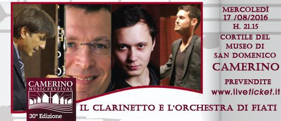 Il Clarinetto e l'Orchestra di Fiati al Camerino Music Festival