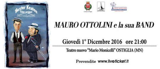 Mauro Ottolini e la sua band al Teatro Nuovo Mario Monicelli di Ostiglia
