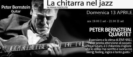 Peter Bernstein Italian Tour 4Tet all'Enoteca del Jazz a Molfetta