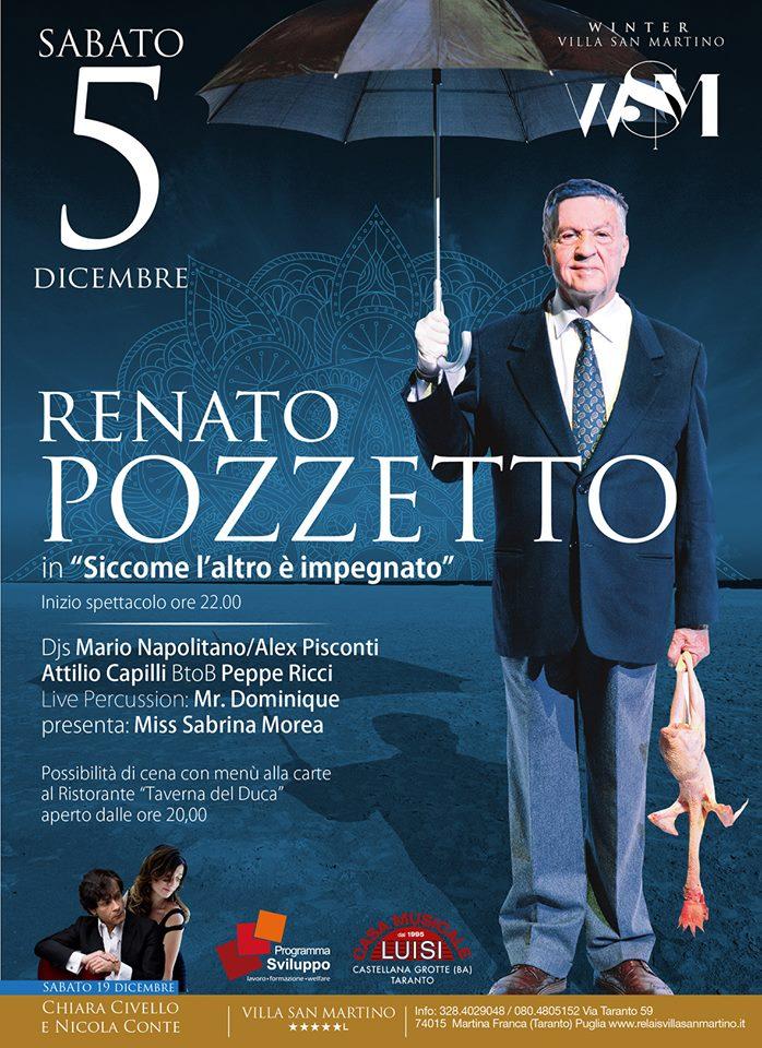 Renato Pozzetto all'Hotel Relais Villa San Martino a Martina Franca