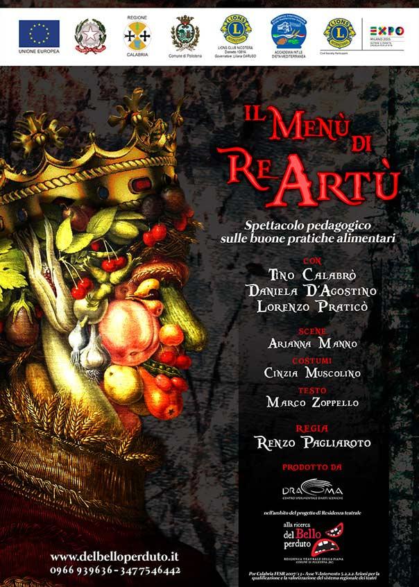 """Teatroltre 2015 """"Il menù di re Artù"""" al Teatro Grandinetti di Lamezia Terme"""