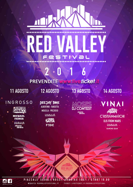 Red Valley Festival 2016 a Tortolì