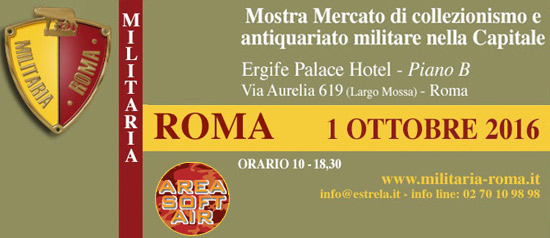 "Mostra mercato ""Militaria Roma"" all'Ergife Palace Hotel di Roma"