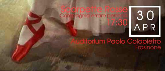 """""""Scarpette rosse"""" all'Auditorium Paolo Colapietro di Frosinone"""