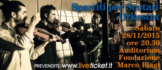 Spartiti per Scutari Orkestra all'Auditorium Marco Biagi di Modena