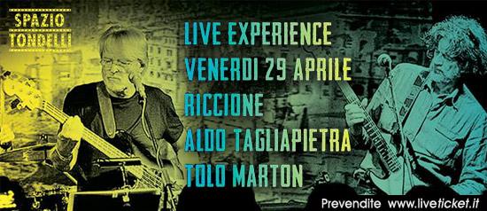 Aldo Tagliapietra e Tolo Marton allo Spazio Tondelli di Riccione