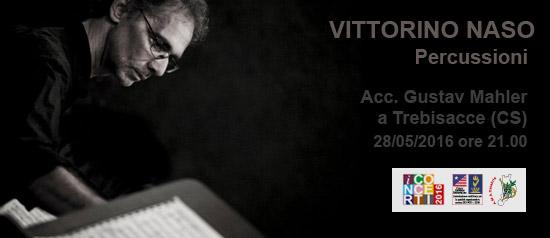 Le percussioni di Vittorino Naso all'Accademia Gustav Mahler di Trebisacce (CS)
